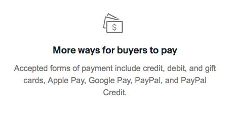 More ways for buyers to pay